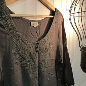 Tops - ✨4/$20✨ NWOT Army Green Blouse